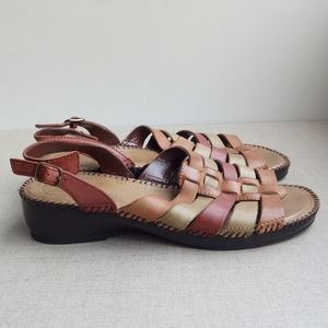 St. John's Bay Women US 7.5 Leather Strappy Sandal